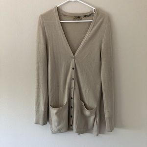Authentic Burberry 100% Cashmere Beige Cardigan